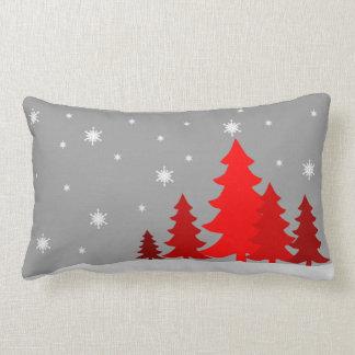 Red Christmastree lumbar pillow