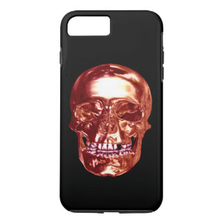 Red Chrome Skull iPhone 7 Case