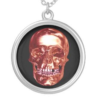 Red Chrome Skull Necklace