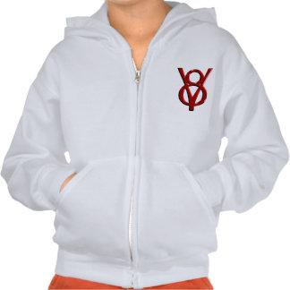 Red Chrome V8 Logo Hooded Pullover