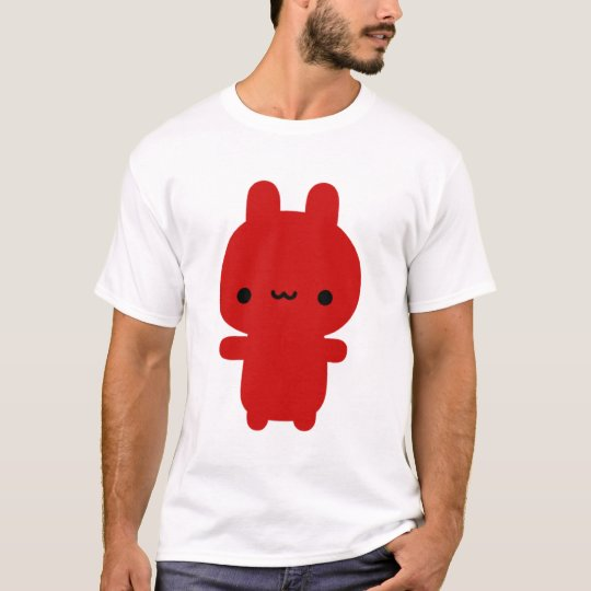 Red Chubby Bunny Black Tee (Women)