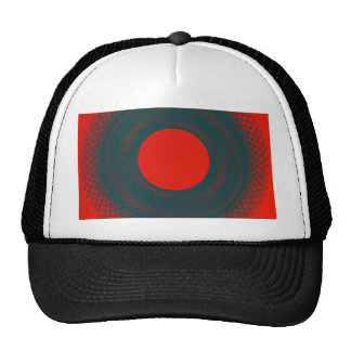 red circle trucker hat