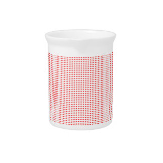 Red Circle Halftone Background Pitcher