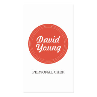 Red Circle Logo for Chef, Bakery, Catering Pack Of Standard Business Cards
