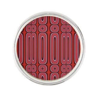 Red circle pattern lapel pin