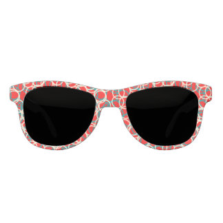 Red Circle Pattern Sunglasses