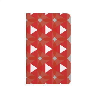 Red Circle White Triangle Designer Modern Journal