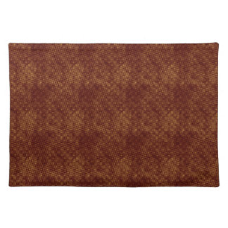 Red Circles and Squares on Gold Placemats