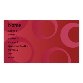 Red Circles - Business Pack Of Standard Business Cards