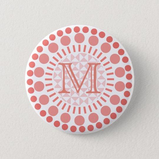 Red Circles Customisable Monogram Badge
