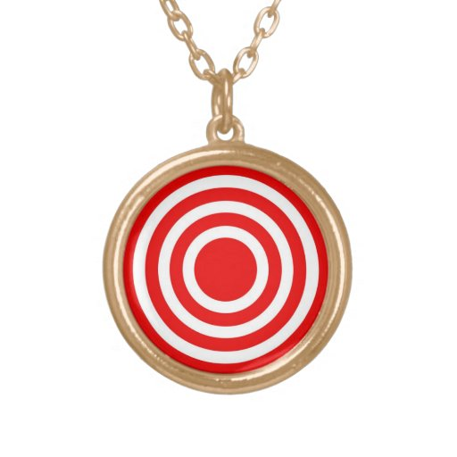 Red Circles Necklace