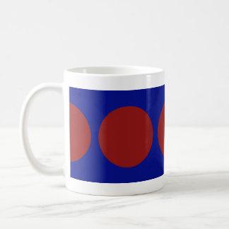 Red Circles on Blue Basic White Mug