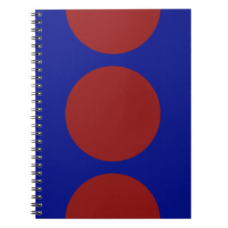 Red Circles on Blue Note Book