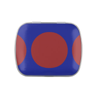 Red Circles on Blue Jelly Belly Candy Tins