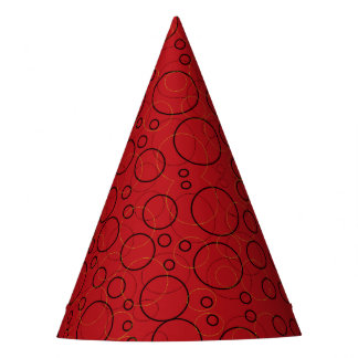 red circles party hat