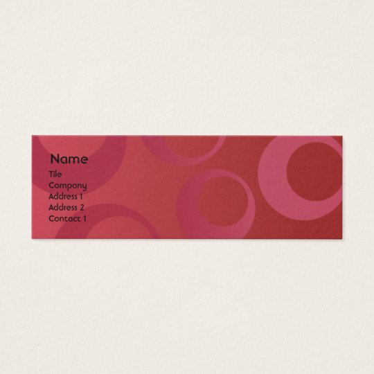 Red Circles - Skinny Mini Business Card
