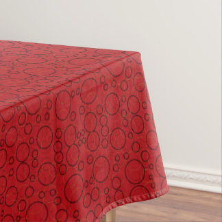 red circles tablecloth