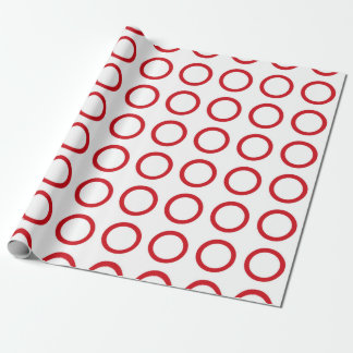 Red Circles Wrapping Paper