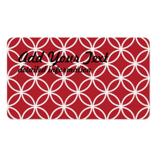 Red Circular Pattern Pack Of Standard Business Cards