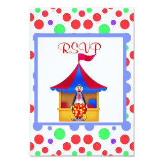 RED CIRCUS BIRTHDAY PARTY RSVP CARD