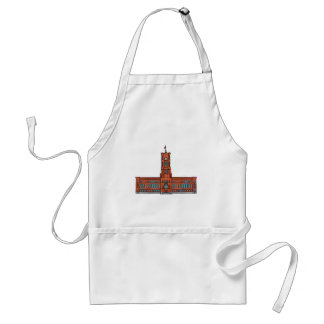 Red city hall Berlin Standard Apron