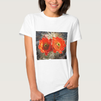 Red Claret Cup Cactus Blossoms Tees