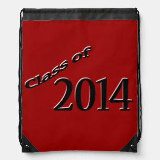 Red Class of 2014 Graduation Drawstring Backpack