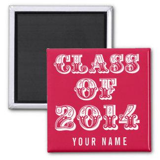 Red Class of 2014 Graduation School Locker Magnet
