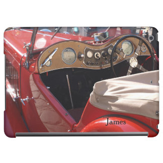 Red Classic Car Dashboard Personalized