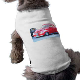 Red Classic car dog shirt