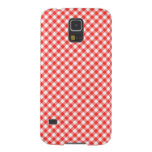 Red Classic Gingham Pattern Pic Nic Case For Galaxy S5
