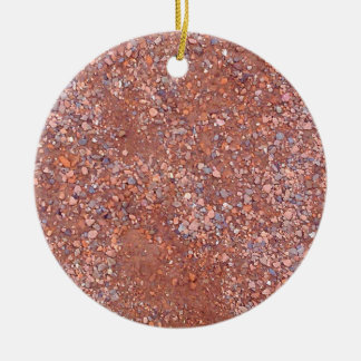 Red Clay Court, Gravel, Shale Stone Brick, Tennis Christmas Ornament