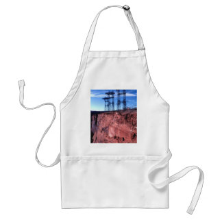 Red cliff Power lines Standard Apron