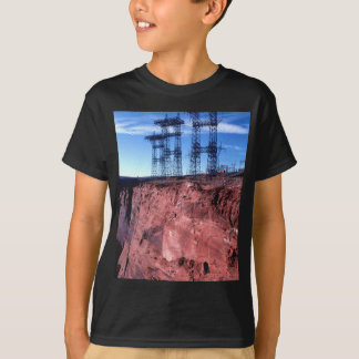 Red cliff Power lines Tee Shirts