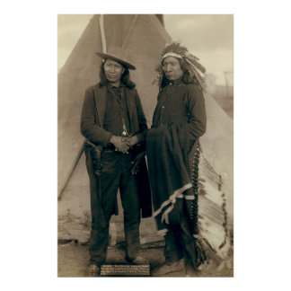 Red Cloud and American Horse - 1891 Poster