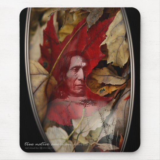 RED CLOUD SPIRIT MOUSE PAD