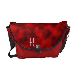 Red Clouds monogrammed Commuter Bags