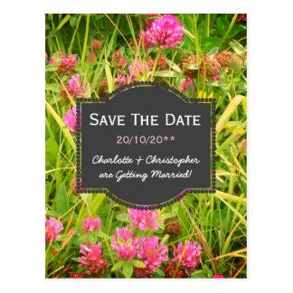 Red Clover And Buttercup Date Saver Wedding Cards