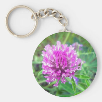 Red Clover Blossom 2 Key Chain
