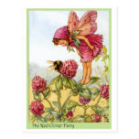 Red Clover Fairy Postcard