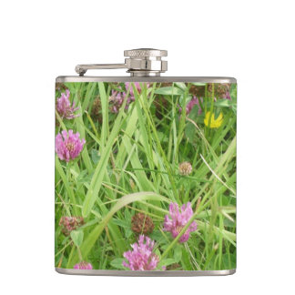 Red Clover Flowers And Buttercup Flasks