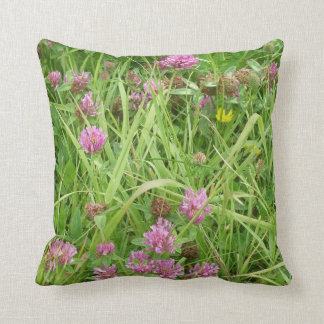 Red Clover Flowers And Buttercup Throw Cushions
