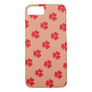 Red clover, white pearle for St. Patrick's day iPhone 7 Case