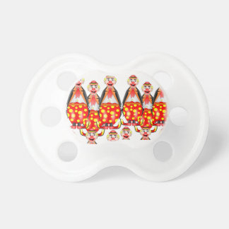 red clowns toddlers pacifier