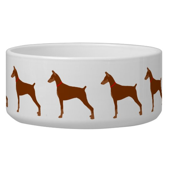 Red Coated Doberman Bowl