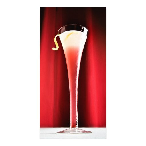 Red Cocktail Picture Card
