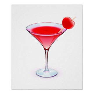 Red Cocktail Poster - SRF