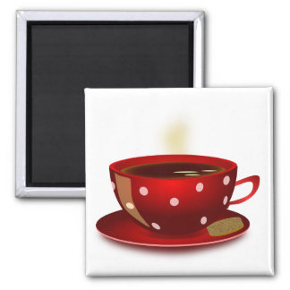 Red Coffee Cup Magnet