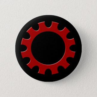 Red Cog Button! 6 Cm Round Badge