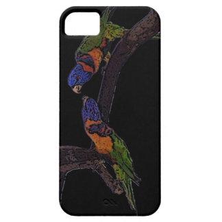 Red collar lorikeet iPhone 5 case
